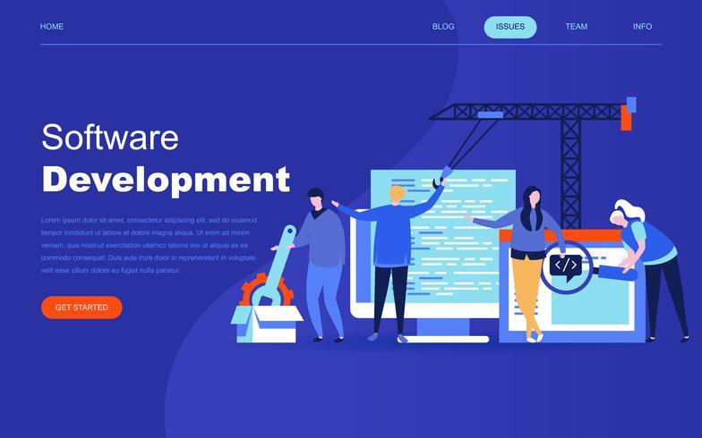 Modernes flaches Designkonzept der Softwareentwicklung vektor