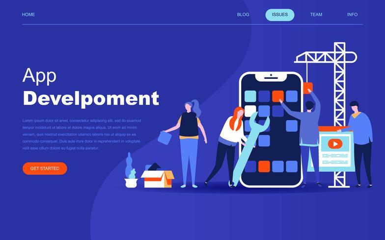 Modernes flaches Designkonzept der App-Entwicklung vektor