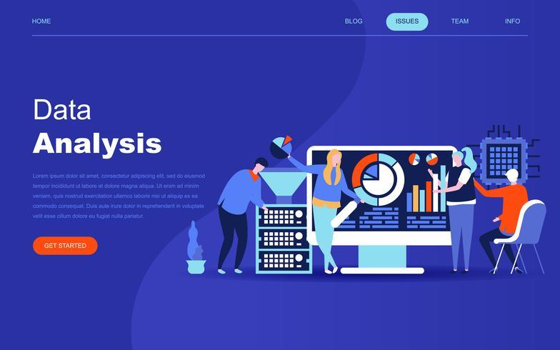 Modernt plattdesign koncept för stor dataanalys vektor