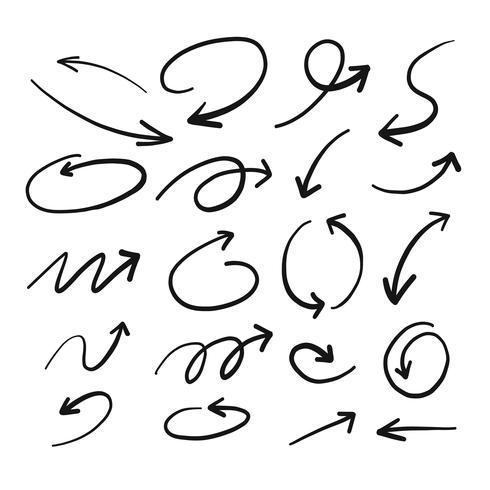 Handritad Sketch of Arrow vektor