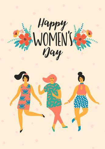 Internationaler Frauentag. Vektor Vorlage