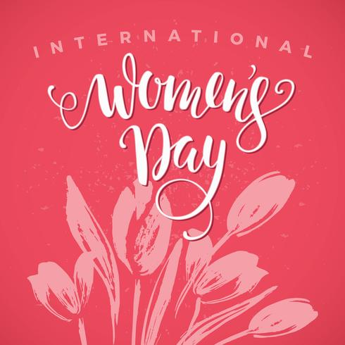 Internationella kvinnodagen. Lettering design för Banners, Flyers, vektor