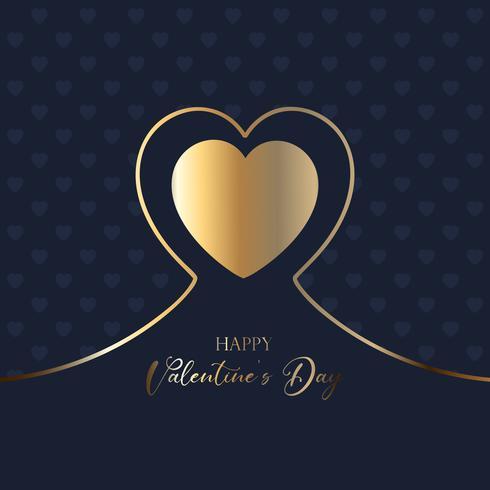 Elegant Alla hjärtans dag bakgrund vektor