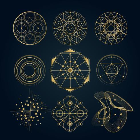 Heliga geometriska former vektor