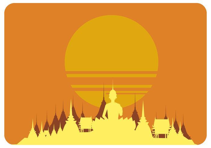 bangkok solnedgång vektor