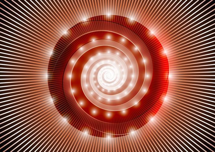 Abstrakte rote Spirale vektor
