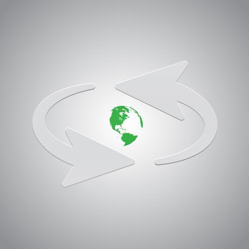 Vektorpfeile und Erde vektor