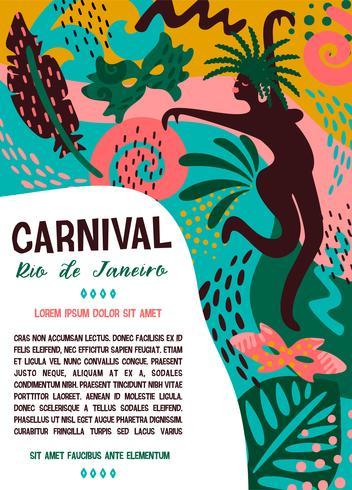 Brasilien Karneval. Vektorillustration mit modischen abstrakten Elementen. vektor