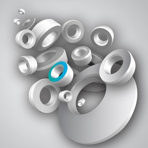 Sammanfattning 3D geometrisk design vektor