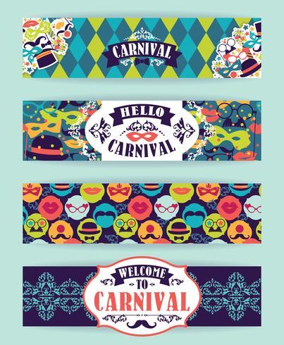 Firande festlig bakgrund med karnevalsikoner och objekt. vektor