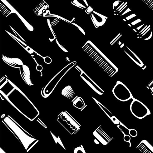 Friseur bearbeitet nahtlosen Beschaffenheits-Vektor vektor