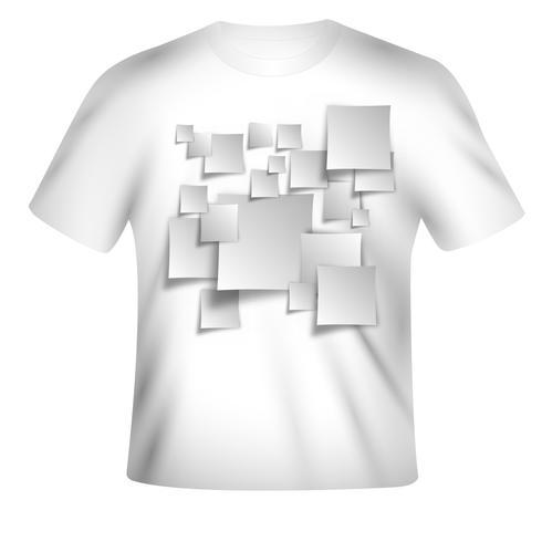 Vektor t-shirt design med färgstark design