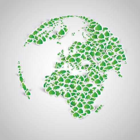 Jorden är gjord av massor av klistermärken vektor