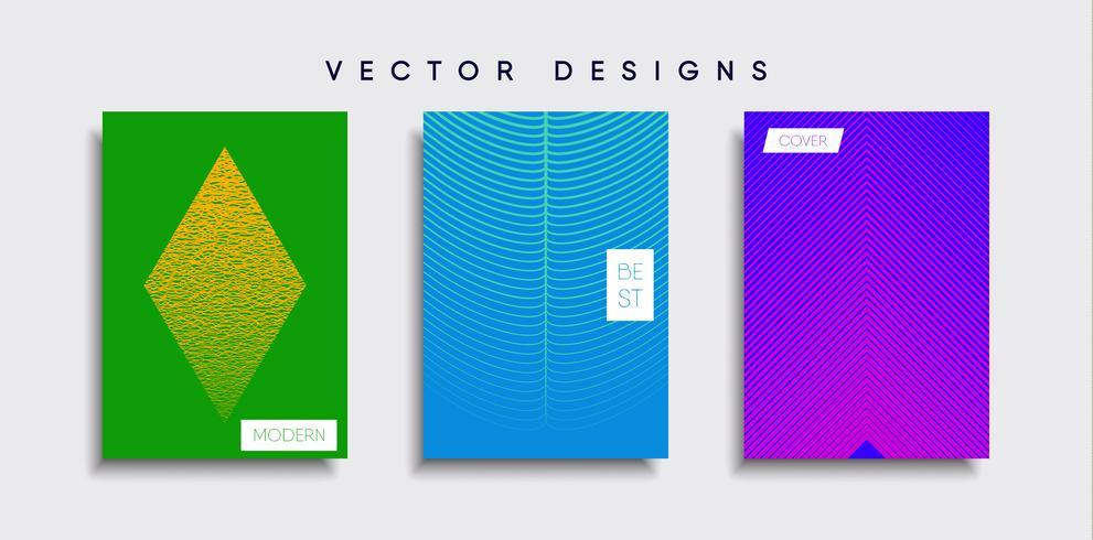 Minimale Vector-Cover-Designs. Zukünftige Plakatschablone vektor