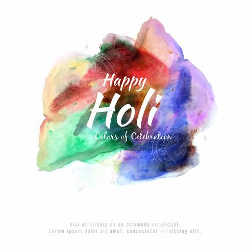 Abstrakt Glad Holi färgstark festivalen firar bakgrund vektor