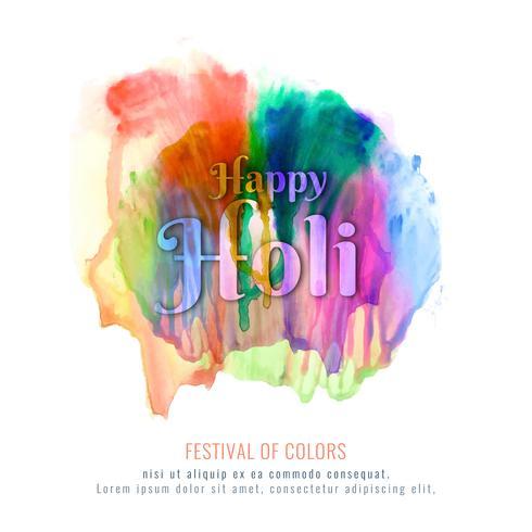 Abstrakt Glad Holi färgglada festival dekorativa vektor bakgrund