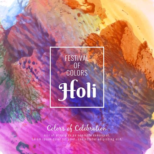 Abstrakt Glad Holi färgglada festival dekorativa bakgrunds illustration vektor