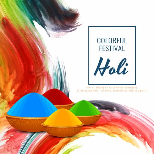 Abstrakt Glad Holi religiös festival dekorativ bakgrund vektor