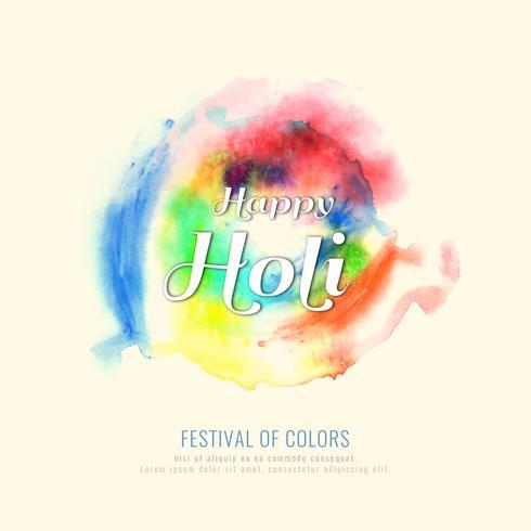 Abstrakt Glad Holi färgstark festivalen firar bakgrunds illustration vektor