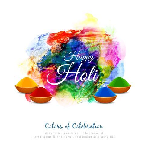 Abstrakt Glad Holi färgglad festival bakgrundsdesign vektor