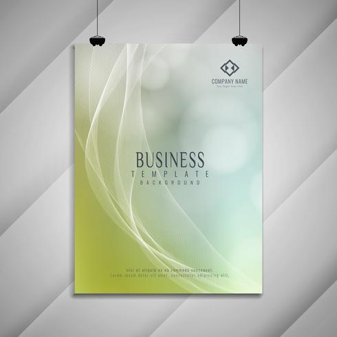Stilvolles Design der abstrakten bunten gewellten Geschäftsbroschüre vektor