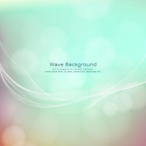 Bunter Hintergrund der abstrakten eleganten Wellenart vektor