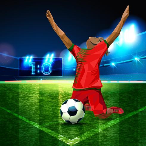 Fußball-Pokal Weltmeisterschaft. vektor