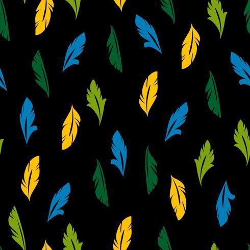 Vektornahtloses Muster mit abstrakten Federn. vektor