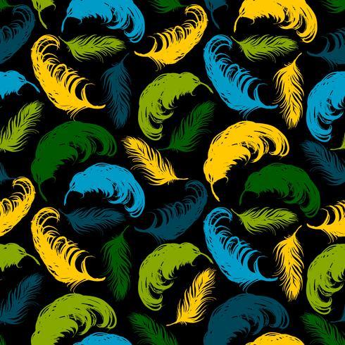 Vektor sömlösa mönster med abstrakta fjädrar.