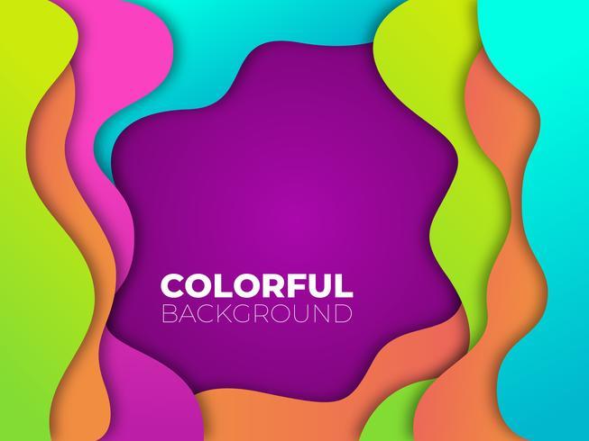 Färgrik bakgrundsmall vektor