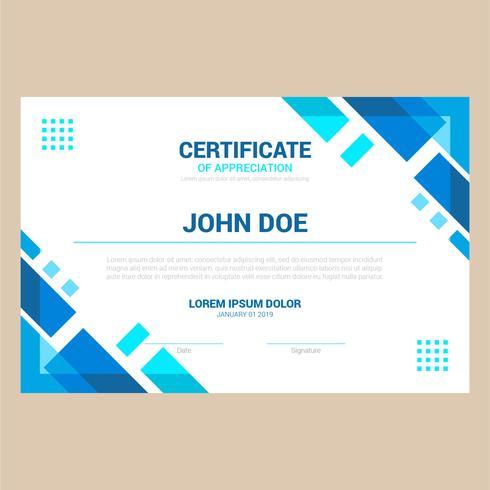 certifikatmall vektor