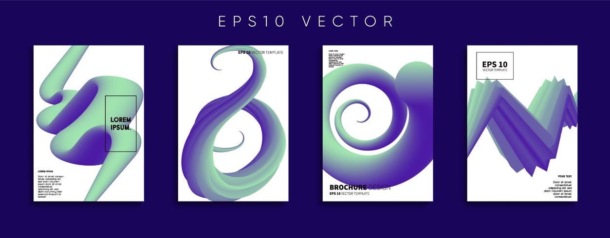Minimal vektor täckdesign. Framtida affischmall.