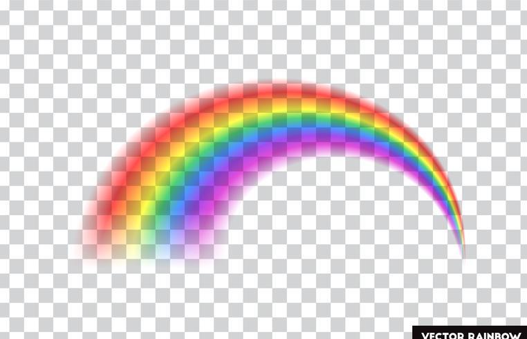 Transparenter Regenbogen. Vektor-Illustration Realistischer Regenbogen auf transparentem Hintergrund. vektor