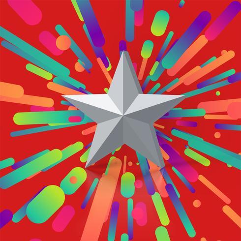 Färgrik illustration med stjärnklassificering, vektor illustration