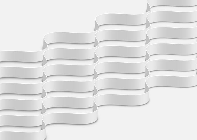 Hoch-ausführliche abstrakte weiße Wellen, vektorabbildung vektor