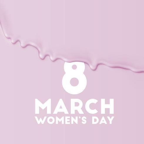 Vektorhintergrund für den Tag der internationalen Frauen - 8. März vektor