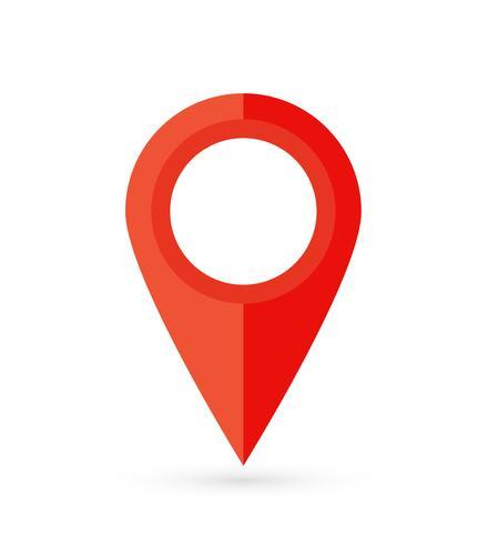Platsstift. Map pin flat icon vector design.