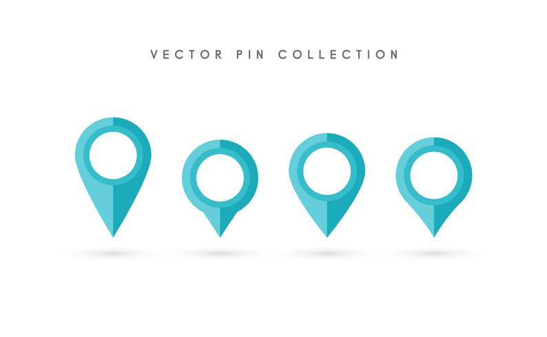 Platsstift. Map pin flat icon vector design.