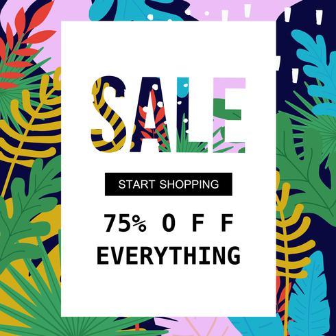 Försäljningsaffisch för shopping, rabatt, detaljhandel, produktreklam vektor illustration. Försäljningsbannermall