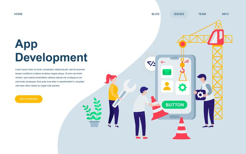 Moderna platt webbdesign mall av App Development vektor