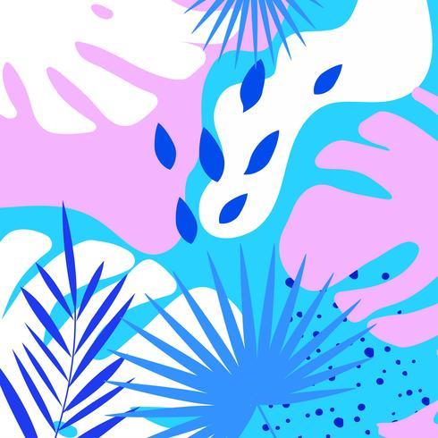 Tropiska djungeln lämnar bakgrunden vektor