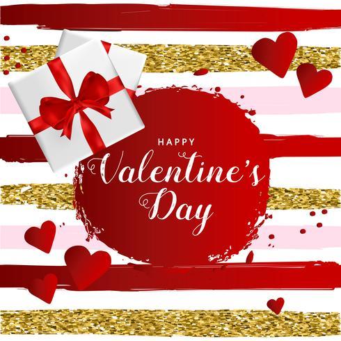 Glückliches Valentinsgruß-Tagestypographieplakat, romantisches Grußkartenvektor-Illustrationsdesign vektor