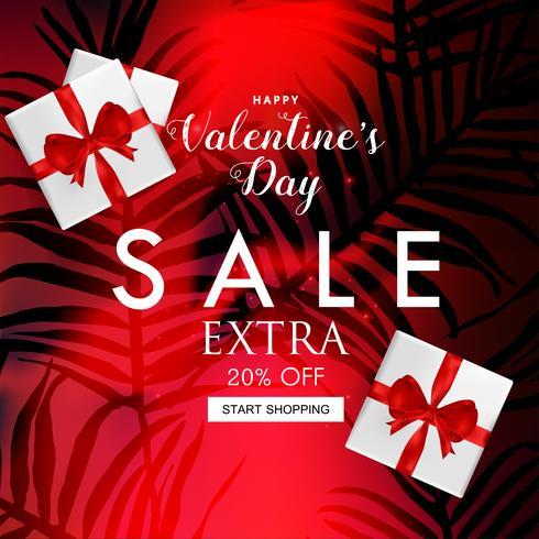 Alla hjärtans dag försäljning webbplats banner vektor