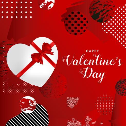 Lycklig Alla hjärtans dag typografi affisch, romantiskt hälsningskort vektor illustration design