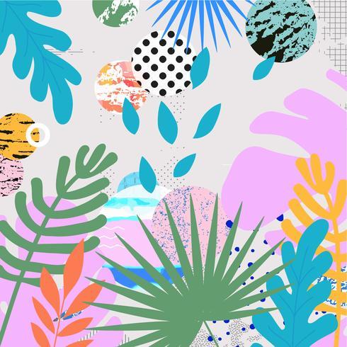 Tropiska djungeln lämnar backgroun vektor