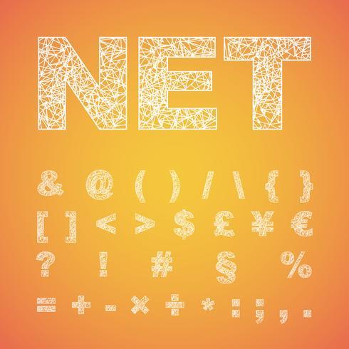 Netto-Schriftartsatz, Vektorschriftart vektor