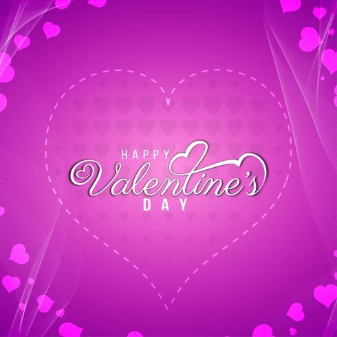 Lycklig Alla hjärtans dag elegant bakgrundsdesign vektor