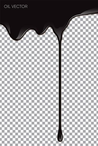 Realistisk svart olja isolerad på transparent bakgrund. Vektor illustration.