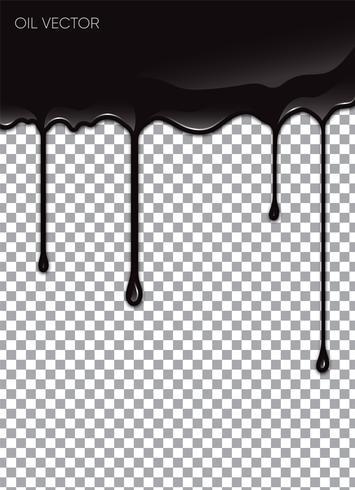 Realistisches schwarzes Öl lokalisiert auf transparentem Hintergrund. Vektor-Illustration vektor