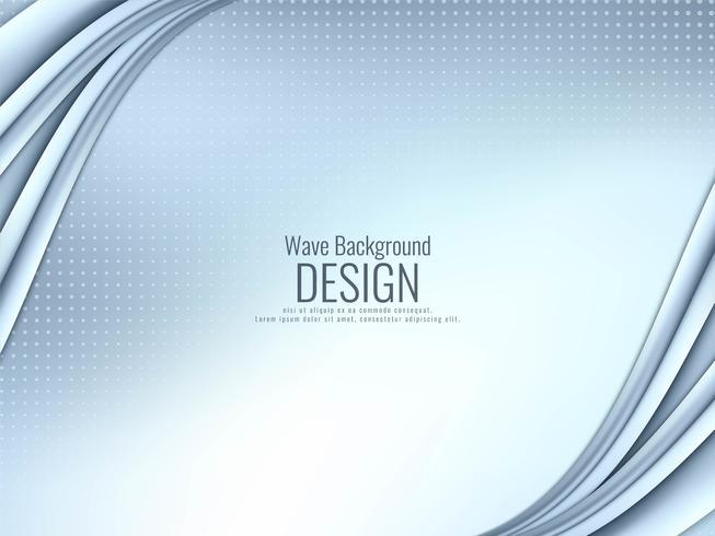 Abstrakter stilvoller wellenförmiger Hintergrund vektor